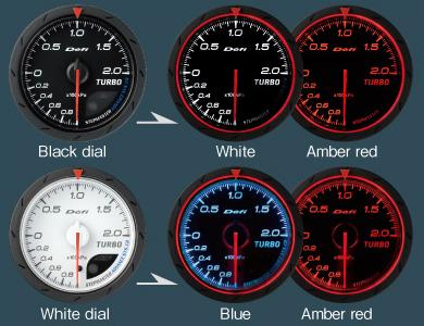 Defi Link ADVANCE CR Oil Pressure Gauge Black Face 52mm White//Amber Red DF08102